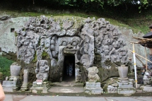 The Goa Gajah cave temple, Ubud