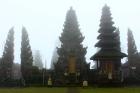 The Pura Ulun Danu Batur temple on a misty day