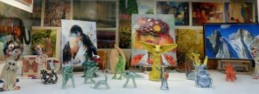 Creative art in a store window