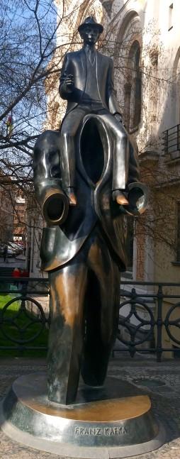 Franz Kafka sculpture, Jewish Quarter
