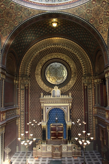 The beautiful Spanish Synagogue, Prague Jewish Town