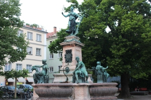 Beautiful fountain in Lindau