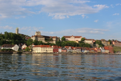 View of Meersburg as we sail towards it