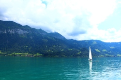 On a boat ride on Lake Brienz