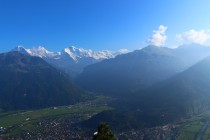 View of the Swiss Alps from Interlaken
